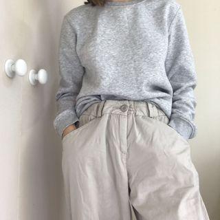 Beige wide pants