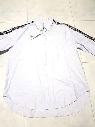 [Reserved] Zara TRF - Light Blue Shirt
