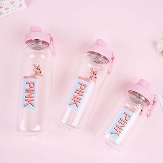 🚚 粉紅頑皮豹濾茶器耐熱玻璃水瓶