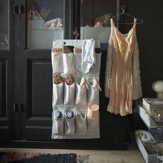 Ikea stuk 16 pocket shoe organiser organizer door wardrobe hanging hanger scarf belt accessories jewelry