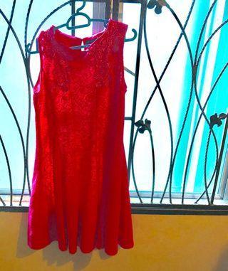 Pink sleeveless dress