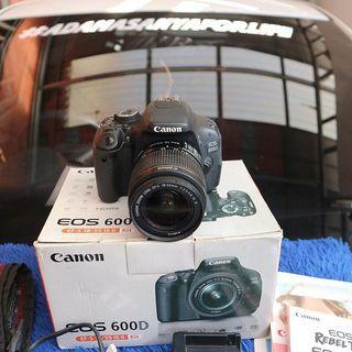 Canon 600D Fullset Bisa Barter / Tukar Tambah