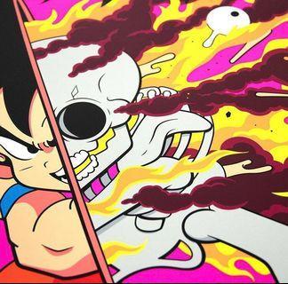 Matt Gondek 限量 150 Deconstructed Kakarotto Screenprint 畫 悟空 Dragon ball Z 龍珠