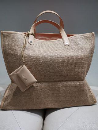 Dkny weave shopping bag