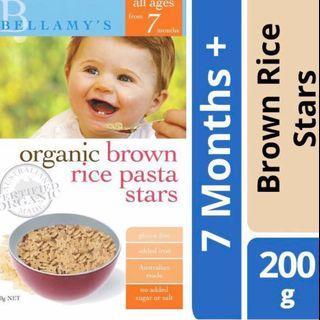 🚚 $6.50 toddler baby food Bellamy organic star brown rice pasta