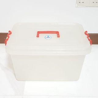 Toyogo storage box with red clip lid