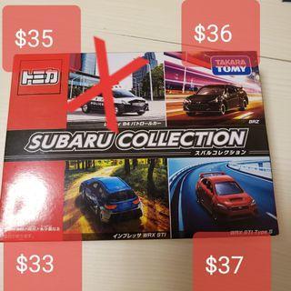tomy tomica Subaru collection散裝每架跟透明盒 pm註明那款
