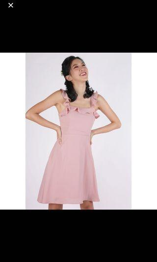 🚚 TTR Julie Ruffles Spag Dress
