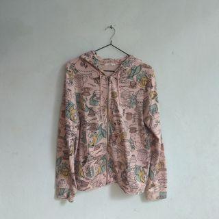 hoodie jaket disney alice in wonderland fullprint