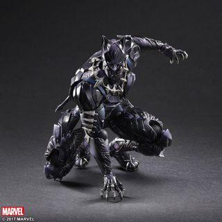 In Stock Play Arts Kai Black Panther Authentic Play Art