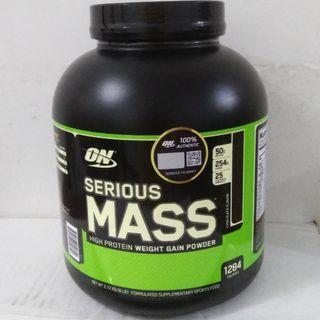 6Lbs, Mass Gainer, Whey Protein, Serious Mass, Protein Powder, Optimum Nutrition