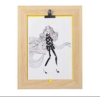 IKEA BYARUM clipboard Frame birch effect