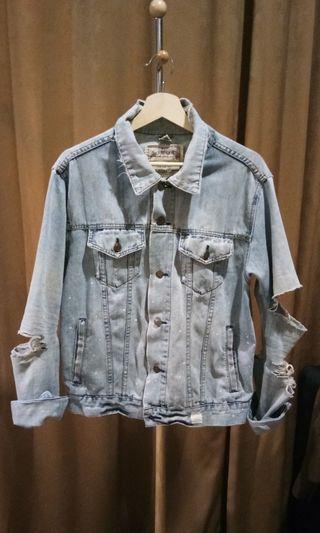 🔴Original Abercrombie Ripped Denim Jacket not Stussy #bapau