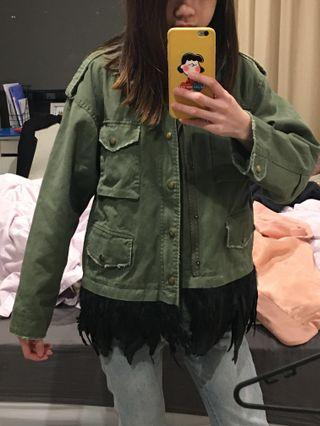 Military Feather Jacket