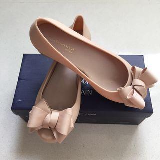 Ribbons 🎀 Beige Jelly Heels