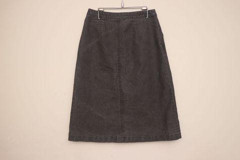 丹寧高腰裙|JACOB 灰色 牛仔裙 水洗刷色
