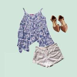 Paisley strappy swing top casual