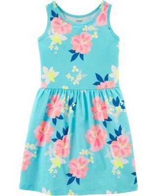 Carter's Floral Jersey Dress