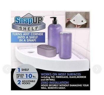 SNAPUP®InstantCorner Shelves Suction是一款易於安裝的角架