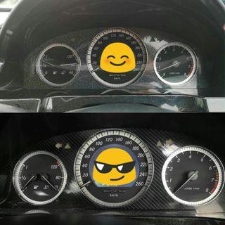 Sticker overlay for c class (w204) cluster