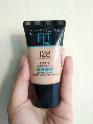 Foundation Maybelline fit me tube shade 128