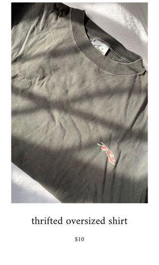 🚚 oversized tee shirt