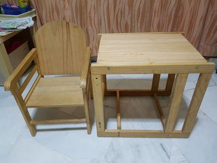 Baby high chair (convertible to table and chair)