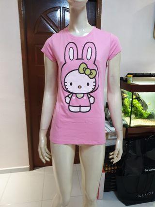 Hello Kitty pink tight fit tees( sanrio)