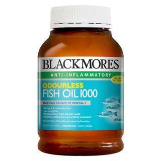 Blackmores Odourless Fish Oil 1000 400s