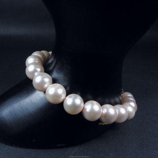 珍珠林~特價商品~8m/m南洋硨磲貝粉珍珠手鏈.多種顏色任您選擇.可加購項鍊#842