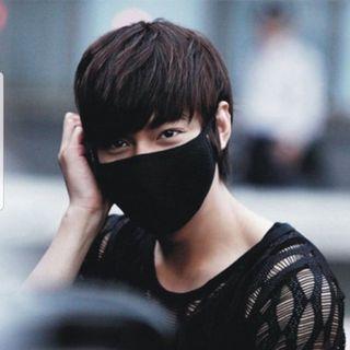 BNIP Unisex Anti-Dust Washable Cotton Black Mask