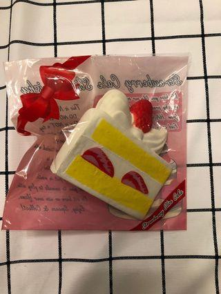 Hayaru strawberry cake slice squishy