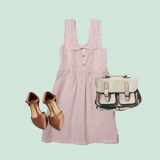 Vintage sweet pink scallop Dress