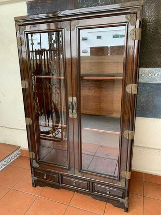 Korean Glass Display Antique Cabinet -Free Delivery!