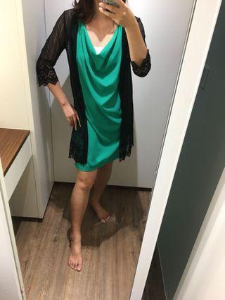 哈妞❤️HaNu《現貨💯實拍》氣質款 袖口/下擺勾花 長版 罩衫「特價/清倉」