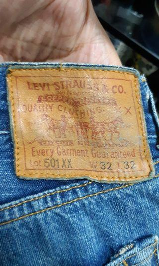 genuine made in Portugal LEVI'S 501XX big E limited edition