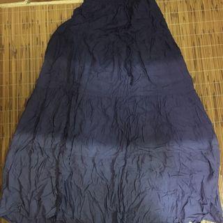 氣質個性紫色漸層長裙