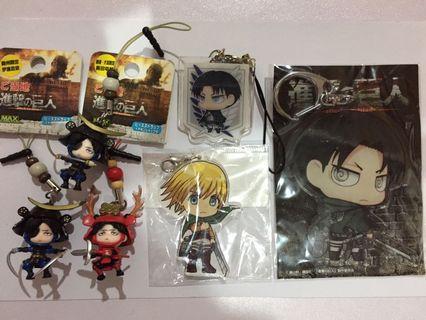 Attack On Titan Keychain Anime Figurine Mascot Lot