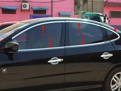 stainless steel window trim cover (Up low posterior triangle, a set of 10 pcs) 2008-2011 for   hyundai avante/elantra High quality