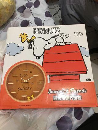 🚚 史努比木質時鐘