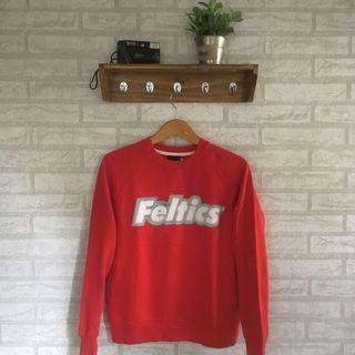 Crewneck/sweater felstics red bukan uniqlo berskha pullbear