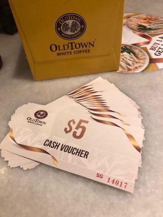 🚚 Old town cash vouchers (valid only at Safra Jurong)