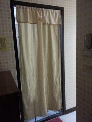 🚚 米白色雙層不透光窗簾