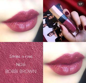 🚚 Bobbi brown金緻鏡光唇釉 strike a rose6