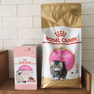Royal Canin Persian Kitten Dry + Wet Food Set