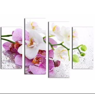 In stock - 4pcs orchids painting