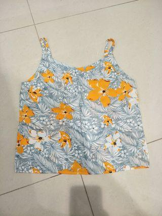 峇里島帶回南洋風花卉上衣