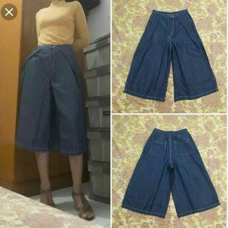 Uniqlo gu denim culottes