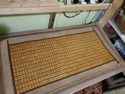 两座位竹垫