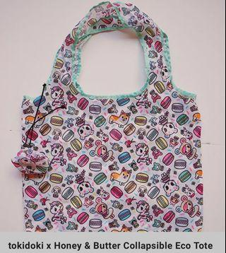 Tokidoki x honey butter eco collapsible tote bag
